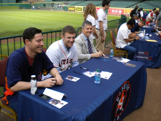 Lucas Harrell, Jordan Lyles and Jeff Luhnow