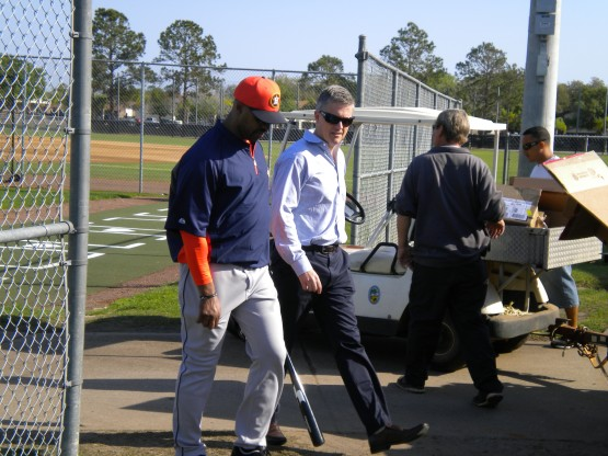 Bo Porter and Jeff Luhnow walk and talk