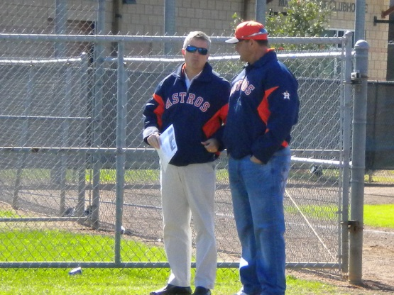 Jeff Luhnow and Roger Clemens.