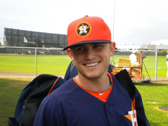 Astros catcher Max Stassi is all smiles