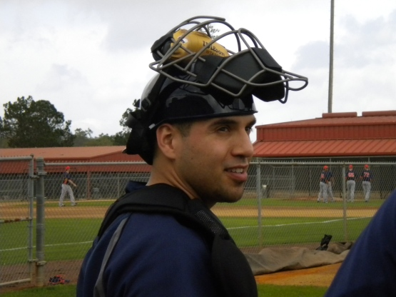 Catcher Jason Jaramillo.