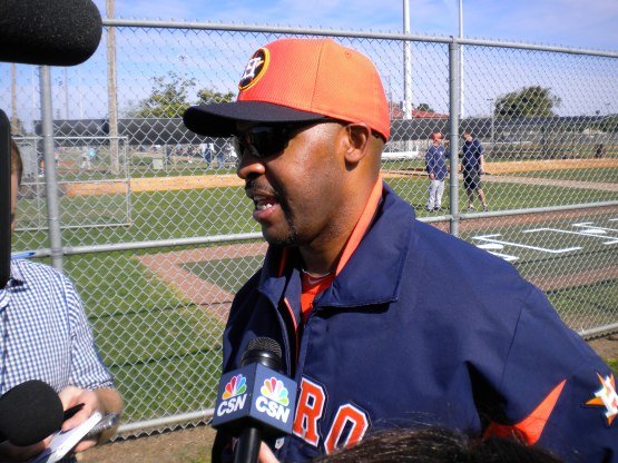Bo Porter talks to the media.