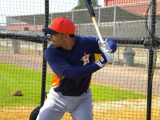 Carlos Pena takes BP.