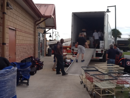 Truck unloaded after 970-mile trip from Houston