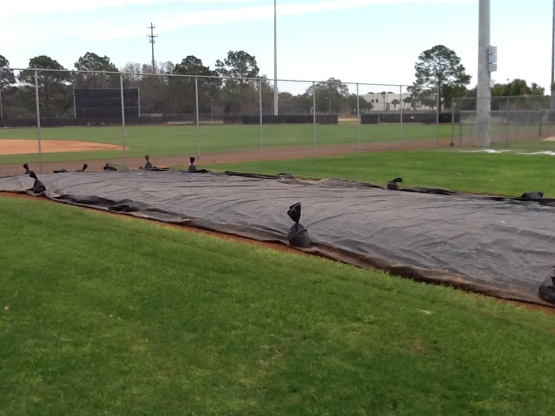 """Ten-pack"" pitching mounds will soon be uncovered for workouts."