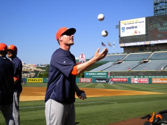 Lucas Harrell juggles.